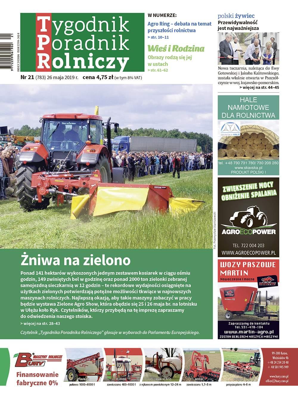 Okładka Tygodnik Poradnik Rolniczy